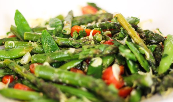 Asparagus and Sugar Snap Pea Salad : Local : The Home Channel