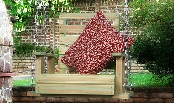 Hanging garden bench diy the home channel Home channel gardening