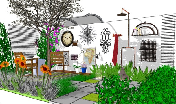 Eclectic gardening design a garden the home channel Home channel gardening
