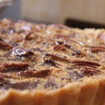 Chocolate Pecan Nut pie with Dates