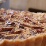 Chocolate Pecan Nut pie with Dates