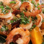Egyptian spiced Dukkah Spiced Butternut & Prawn Salad