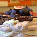 Chocolate and Fig Pavlova