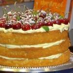 Cherry Cardamom Victorian Sponge Cake