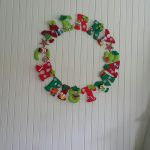 Good afternoon, Please find the attached photos of two of my latest craft projects: Felt Christmas wreath, this was such fun to make and is about 1 meter across, all items were hand drawn and then cut out of felt and attached to a circle cut out of a piece of plastic coated fencing Felt vegetable garden – made for a friend's little boy. My husband kindly made the wooden crate as we could not find a suitable one anywhere! I really enjoy watching Show Me How and have got some great ideas from the show! Have a lovely afternoon. Warm wishes, Sharon Robertson